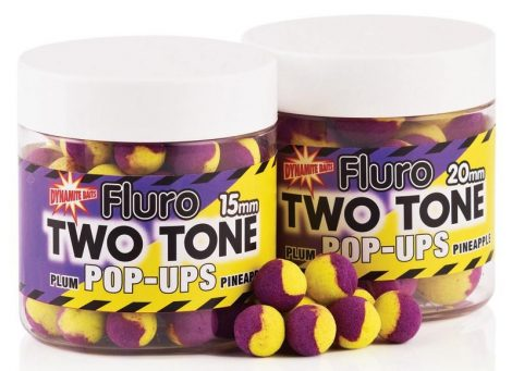 Dynamite Baits -Pulm&Pineapple Fluro - Two Tone Pop-up - 15mm