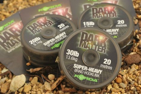 Korda Dark Matter Super Heavy Braid Hooklink előkezsinór 20lb