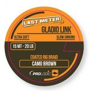 PROLOGIC Gladio link coated camo brown 15m 20lbs (54464) - bevonatos lágy előkezsinór