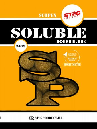 STÉG PRODUCT - Soluble Boilie 24mm Scopex 1kg (SP112466) - oldódó bojli - scopex