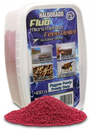 HALDORÁDÓ Fluo Micro Method Feed Pellet - Fagyos Ponty