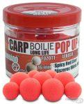HALDORÁDÓ Pop Up főzött csalizó bojli - Fűszeres Vörös Máj 16-20 mm