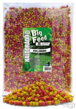 HALDORÁDÓ Big Feed - C6 Pellet - Eper & Ananász 2,5kg - etető pellet