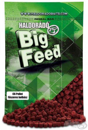 HALDORÁDÓ Big Feed - C6 Pellet - Fűszeres Kolbász 900g - etető pellet