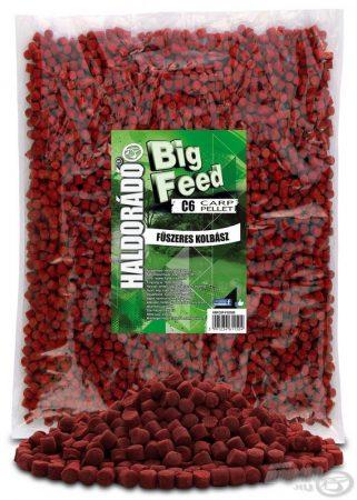 HALDORÁDÓ Big Feed - C6 Pellet - Fűszeres Kolbász 2,5kg - etető pellet