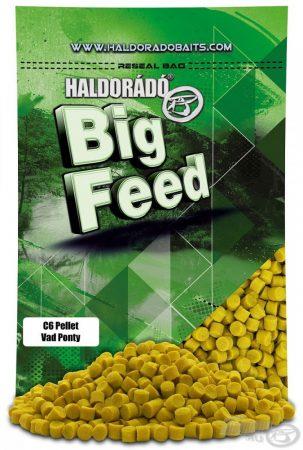 HALDORÁDÓ Big Feed - C6 Pellet - Vad Ponty 900g - etető pellet