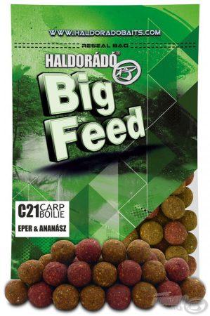 HALDORÁDÓ Big Feed - C21 Boilie - Eper & Ananász 800g - etető pellet