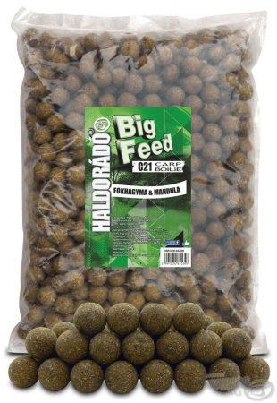HALDORÁDÓ Big Feed - C21 Boilie - Fokhagyma & Mandula 2,5kg - etető pellet