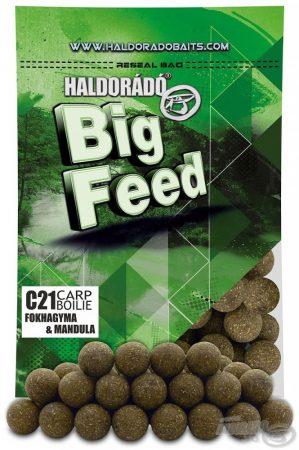 HALDORÁDÓ Big Feed - C21 Boilie - Fokhagyma & Mandula 800g - etető pellet