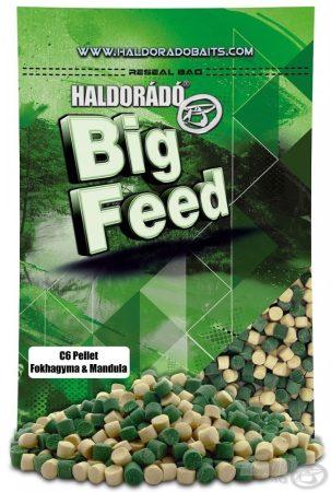HALDORÁDÓ Big Feed - C6 Pellet - Fokhagyma & Mandula 900g - etető pellet