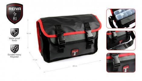 REIVA - Pergető táska 28x11x18cm 2 dobozzal (5220-007)
