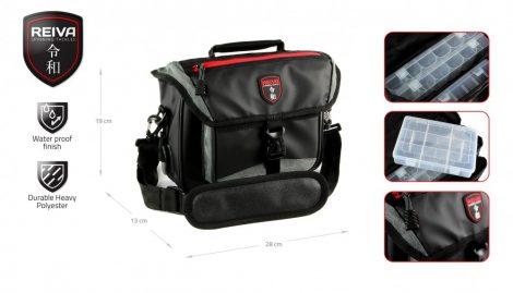 REIVA - Pergető táska 28x13x19cm 3 dobozzal (5220-003)