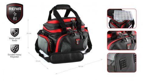 REIVA - Pergető táska 40x22x25cm 4 dobozzal (5220-001)