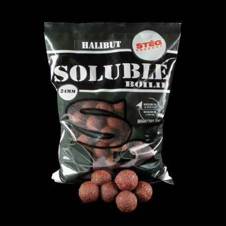 STÉG PRODUCT - Soluble Boilie 24mm HALIBUT 1kg (SP112400) - oldódó bojli - halas