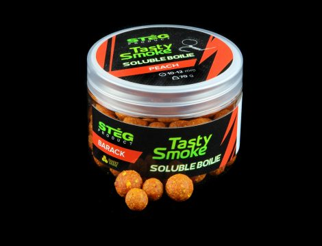 STÉG - Smoke Soluble Boilie 10-12mm Peach 70gr (SP011158)